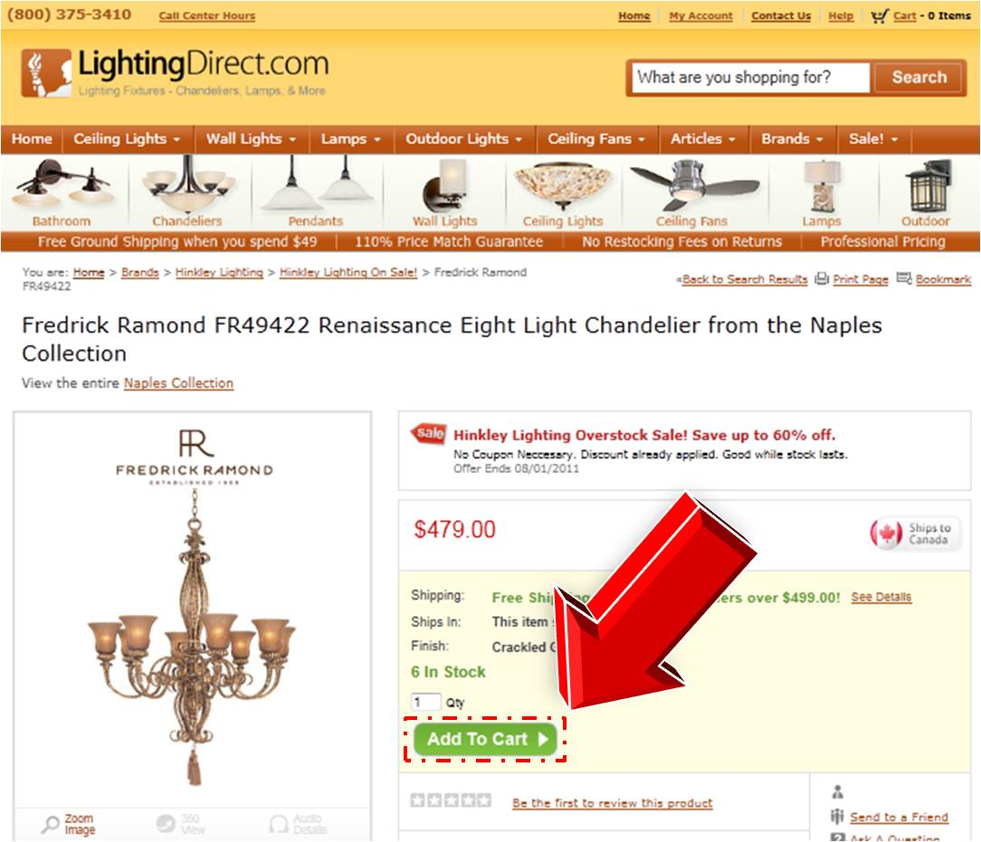 Steps to Entering Lighting Direct Coupon Code | Coupon Promotional