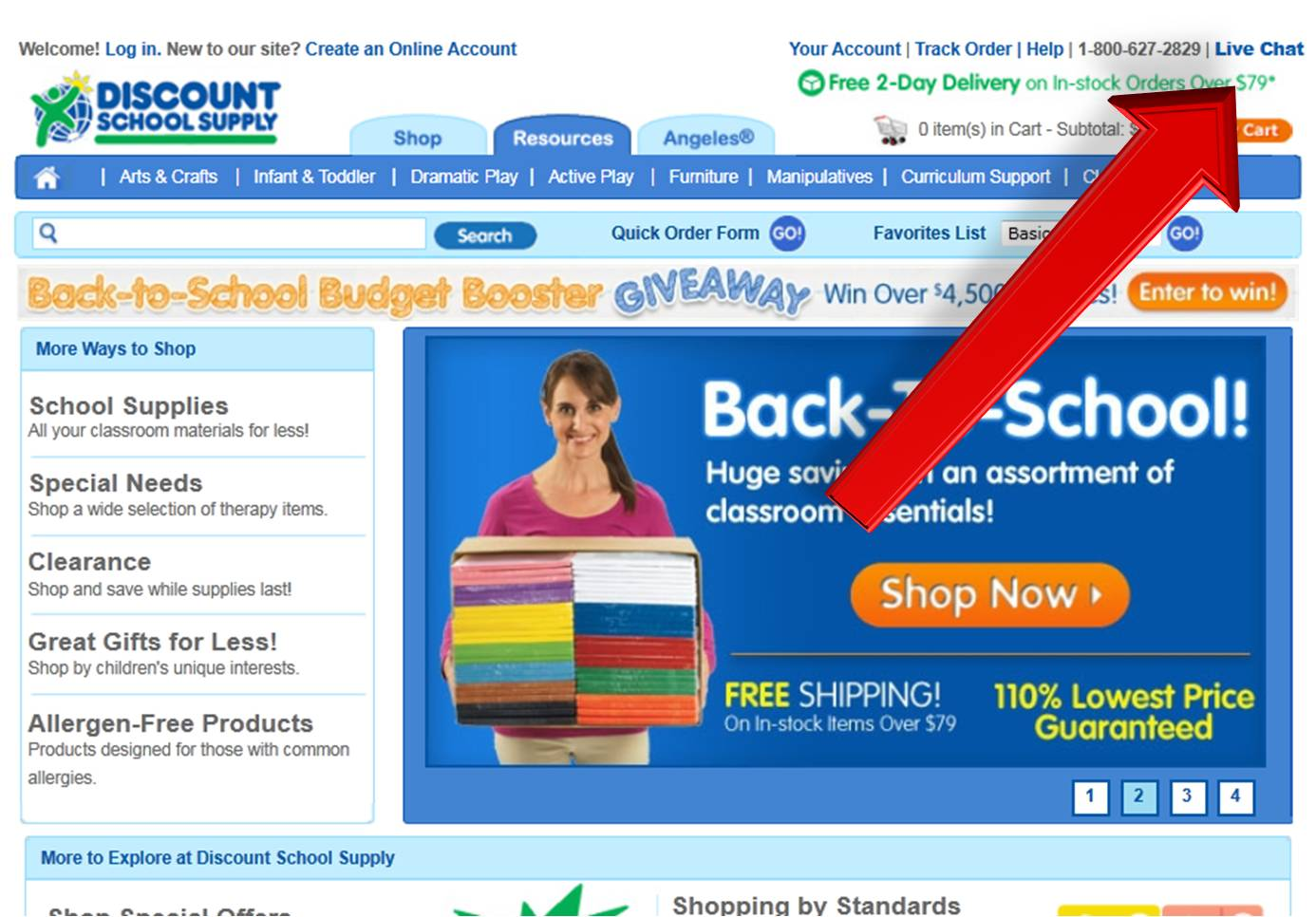 Discount school supply store coupons