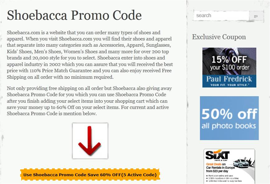 How to use a Shoebacca coupon Online shoe seller, perawan-tante.tk offers fantastic deals and a great referral program that gives both you and a friend $10 off a purchase when you refer them to the site. Refer five friends and get a free pair of shoes with a coupon code. Sign up for Shoebacca emails and get special discounts in your inbox%(10).