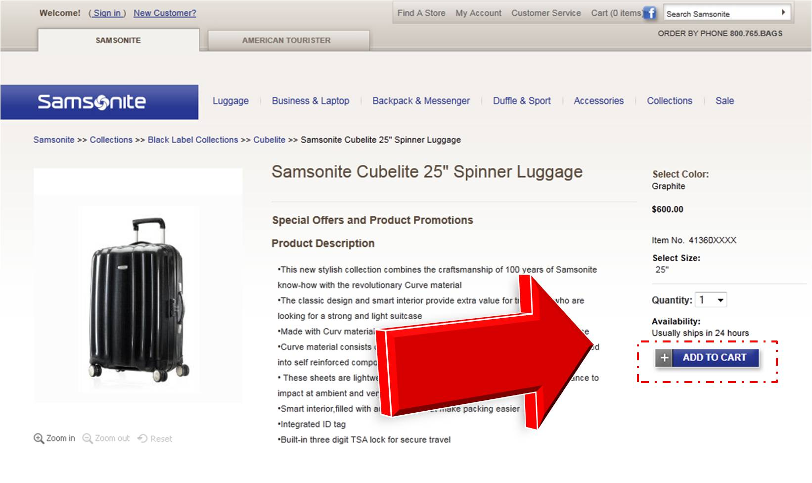 Samsonite coupon code