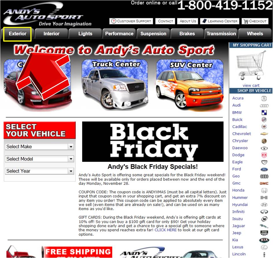 Recently Expired Andys Auto Sport Coupons