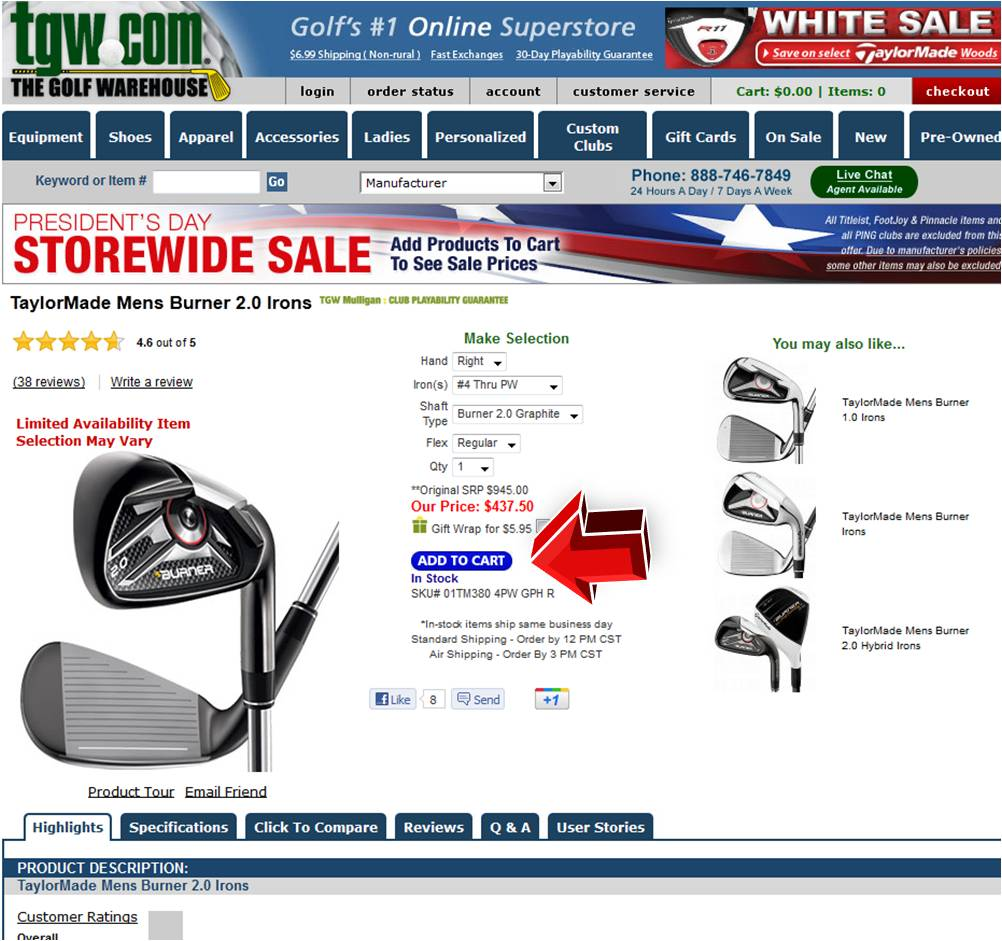 Golf discount coupon code