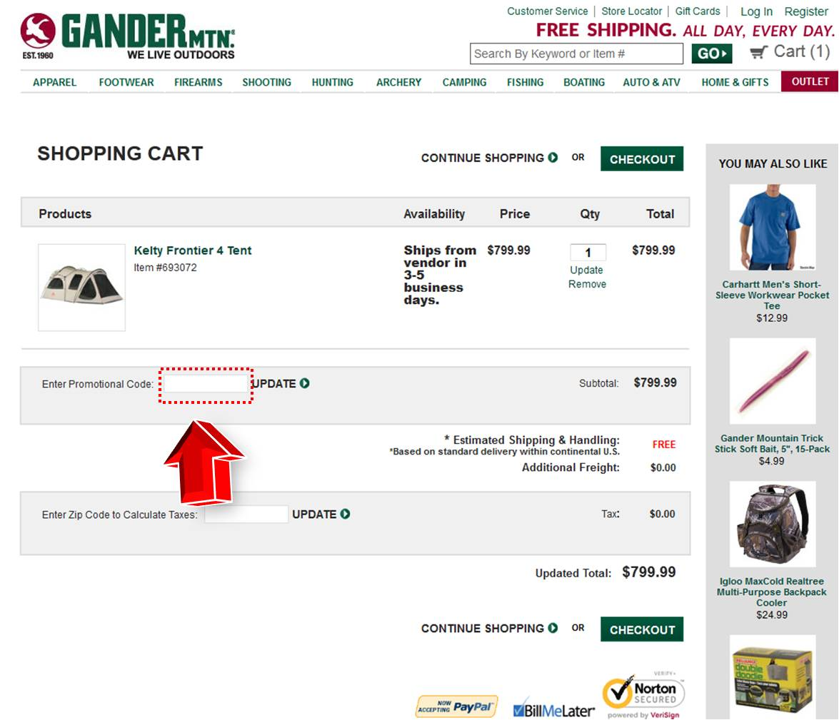 Gander mountain discount coupons