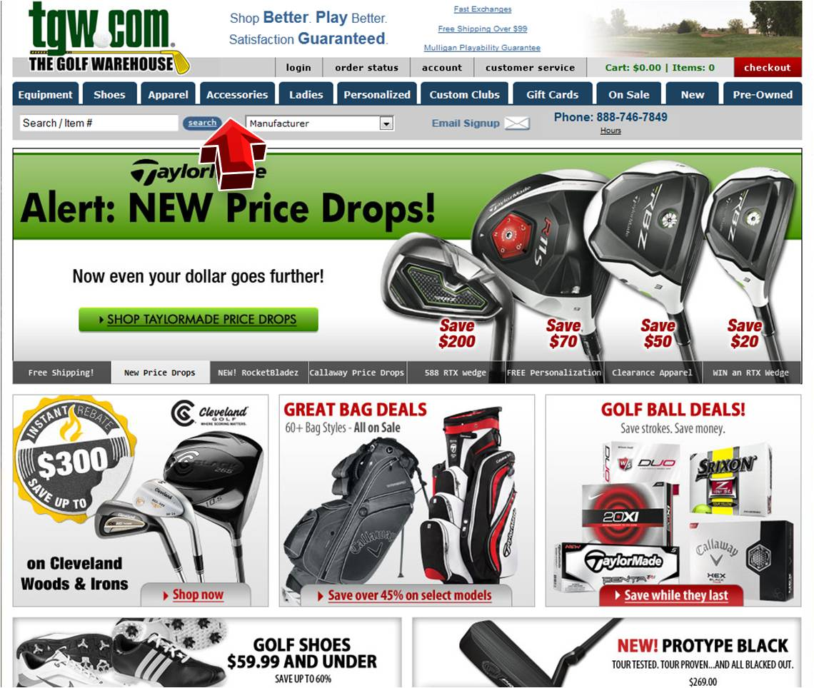 Golfers warehouse coupons