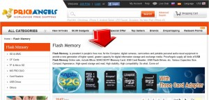 List of PriceAngels Flash Memory