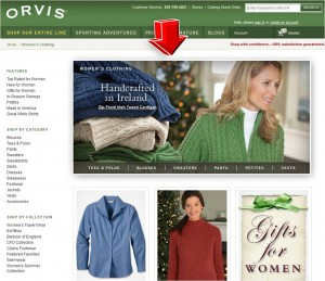 List of Women's Clothing from Orvis