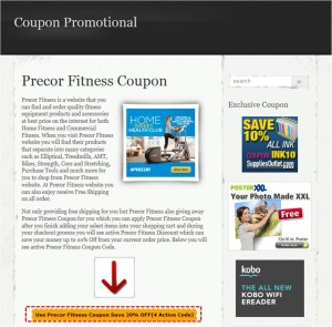 Step1 to Use Precor Coupon