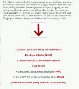 Step2 to Use Precor Coupon