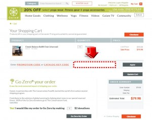 Step4 to Apply Gaiam Promo Code