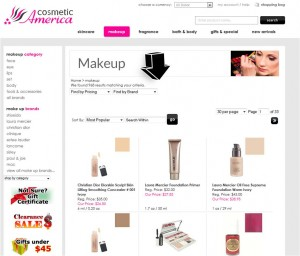 List of Makeup from Cosmetic America