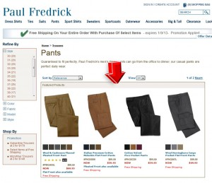 List of Paul Fredrick Pants