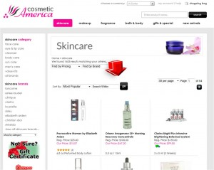 List of SkinCare from Cosmetic America