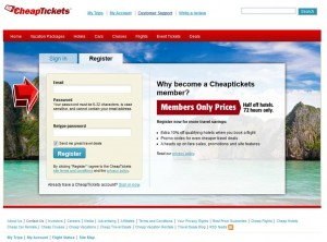 Sign up CheapTickets Mailing Services