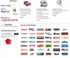 Auto Parts Warehouse Mailing Services