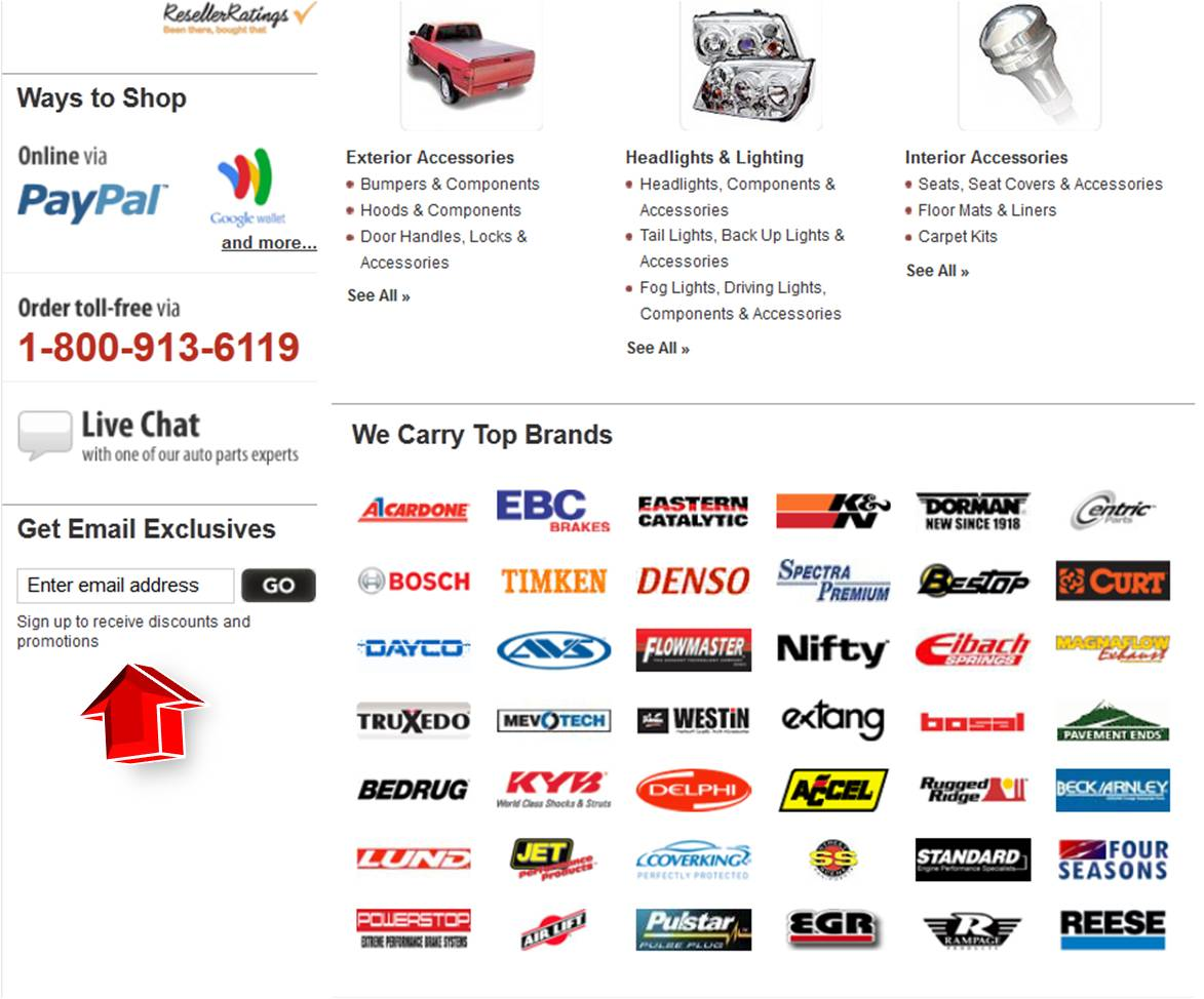 Buy auto parts coupon code