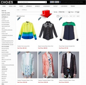 List of Apparels from Choies