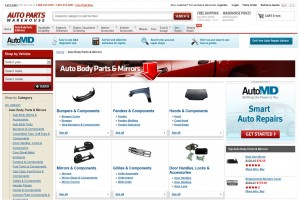 List of Auto Body Parts & Mirrors from Auto Parts Warehouse
