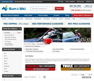 List of Car Racks from Sun & Ski