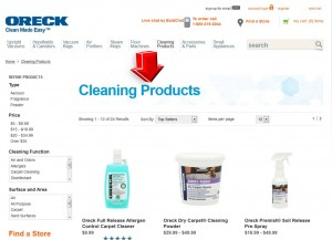 List of Cleaning Products from Oreck