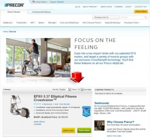 List of Ellipticals from Precor
