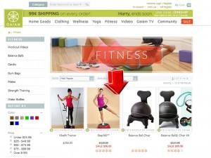 List of Fitness Products from Gaiam