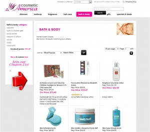 List of Bath & Body from Cosmetic America