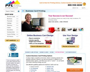 List of Business Cards from PrintingForLess