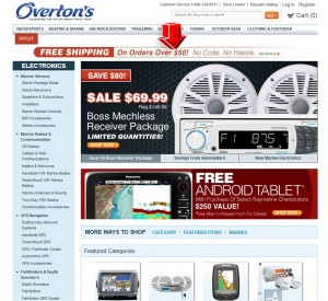 List of Electronics from Overtons