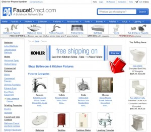 List of Fixtures from Faucet Direct