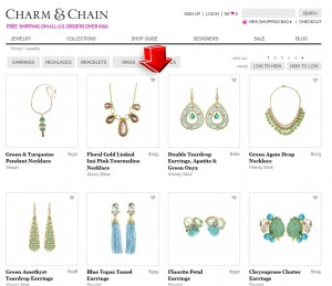 List of Jewelry from Charm & Chain
