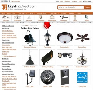 List of Outdoor Lighting from Lighting Direct
