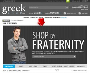 List of Shop by Fraternity from GreekGear