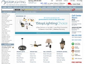 Step1 to Enter 1StopLighting Coupon Code