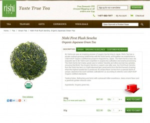 Step2 to Apply Rishi Tea Promo Code