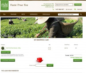 Step3 to Apply Rishi Tea Promo Code
