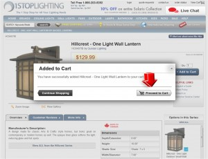 Step3 to Enter 1StopLighting Coupon Code