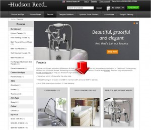 List of Faucets from Hudson Reed