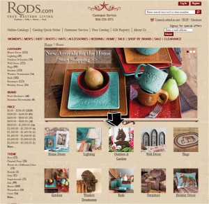 List of Home Decor from Rods Western Wear