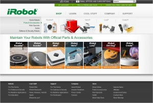List of Parts & Accessories from iRobot