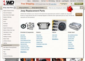 List of Replacement Parts from 4WD