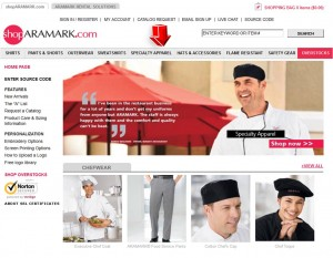 List of Specialty Apparel from Aramark