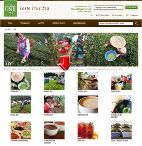List of Tea from Rishi Tea