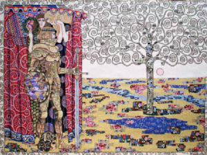 The Knight With The Tree Of Life Italian Tapestry