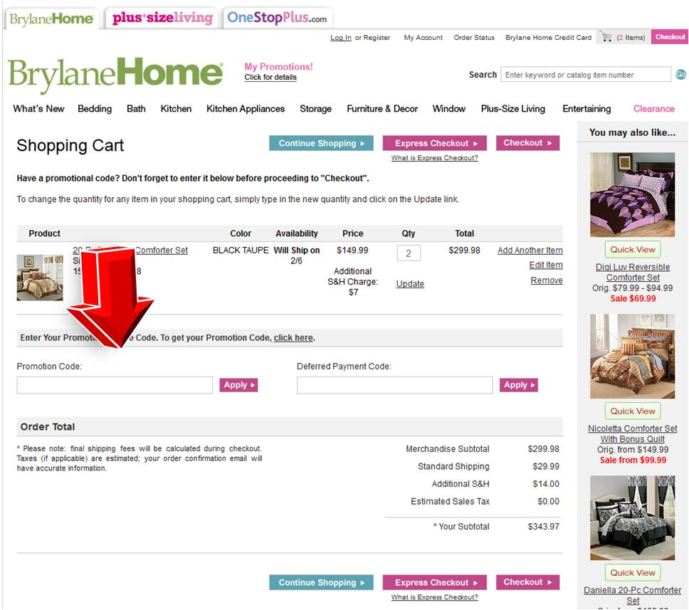 brylane home coupon brylane home code 10129